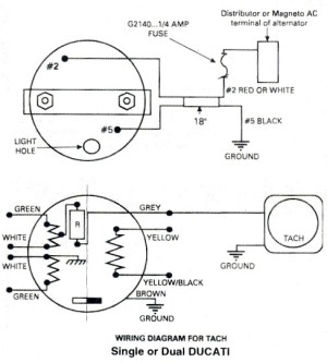 Ducati tachometer, Ducati ignitionwiring diagram for Rotax
