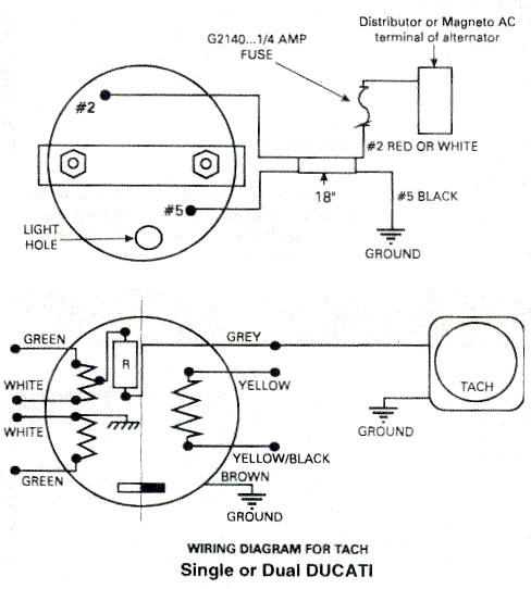 ducati ignition ducati ignition tachometer wiring diagram