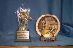 pool league specialty trophies