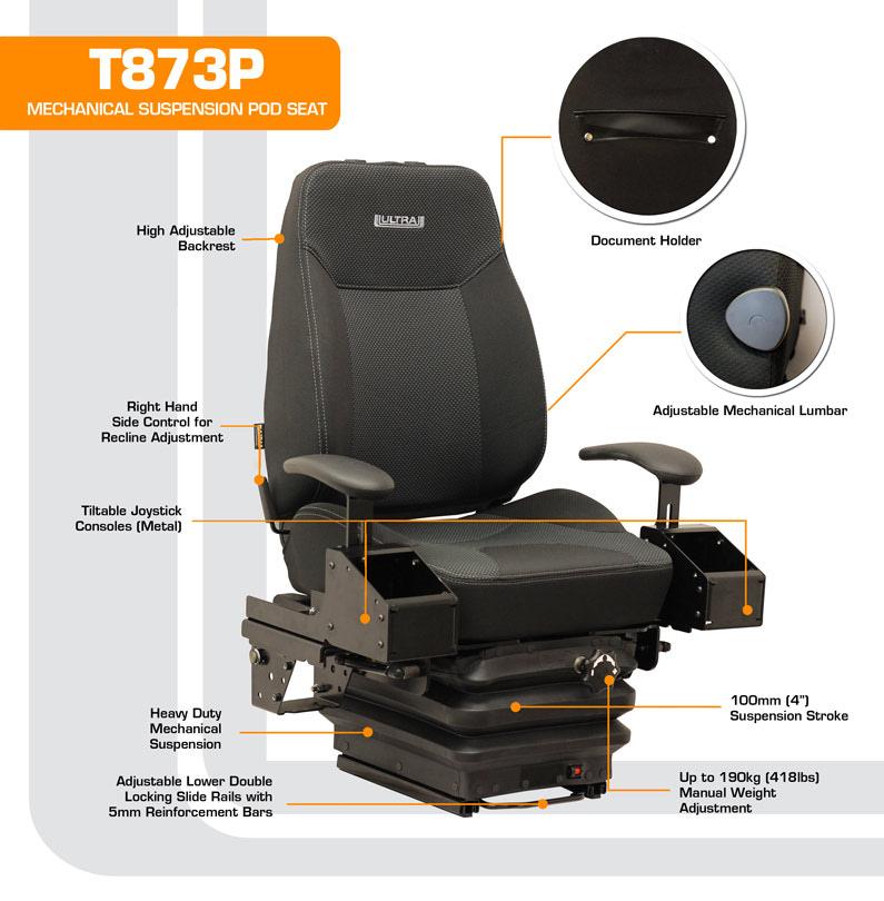 T873P Mechanical Suspension Pod Seat