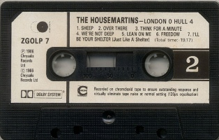 THE HOUSEMARTINS - London 0 Hull 4 (casete B)