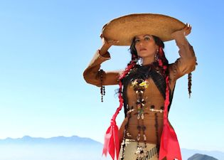 "Handout picture released by Sony Music on March 23, 2015 in Mexico City showing Mexican singer Lila Downs during a photo production for her upcoming album ""Balas y Chocolate"" (Bullets and Chocolate). On March 23, 2015 in the Mexican capital, Downs launched her new lead-single ""La patria madrina"" -- a collaboration with Colombian singer Juanes -- from the upcoming ""Balas y Chocolate"". AFP PHOTO/SONY MUSIC --- RESTRICTED TO EDITORIAL USE - MANDATORY CREDIT ""AFP PHOTO /SONY MUSIC"" - NO MARKETING NO ADVERTISING CAMPAIGNS - DISTRIBUTED AS A SERVICE TO CLIENTS - NO ARCHIVES--/AFP/Getty Images ** OUTS - ELSENT, FPG - OUTS * NM, PH, VA if sourced by CT, LA or MoD **"