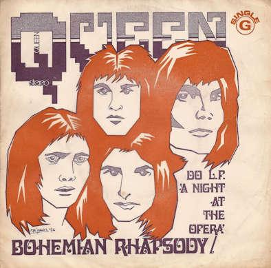 Queen - Bohemian Rhapsody (portada Portugal)