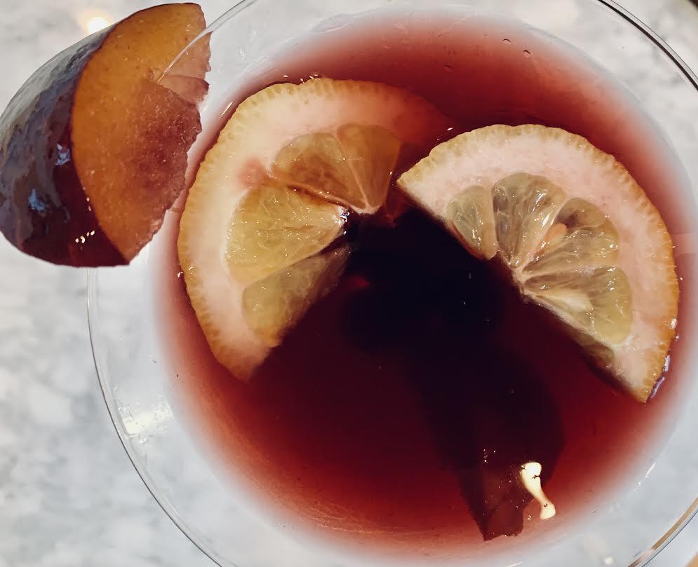 Peach Plum Blueberry Sangria