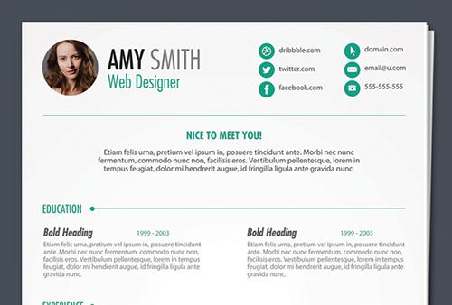 free psd print ready resume template free printable resume