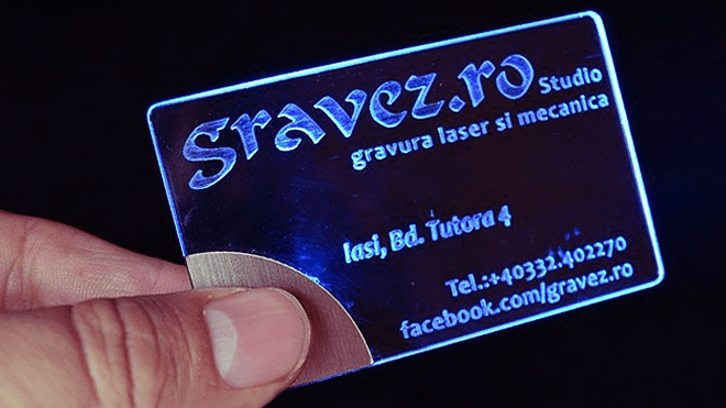 Transparent LED-Lit Business Card by Gravez Dotro