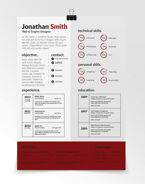 110 best free creative resume templates updated