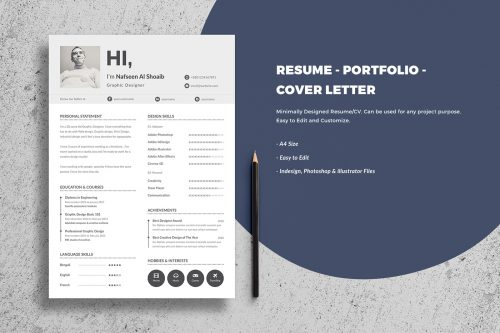 115  Best Free Creative Resume Templates   Download free resume with cover letter template e1492178483918   115  Best Free  Creative Resume Templates