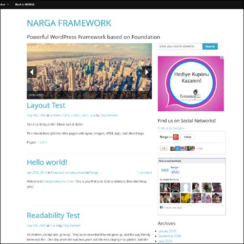 narga.framework.free.wordpress.theme
