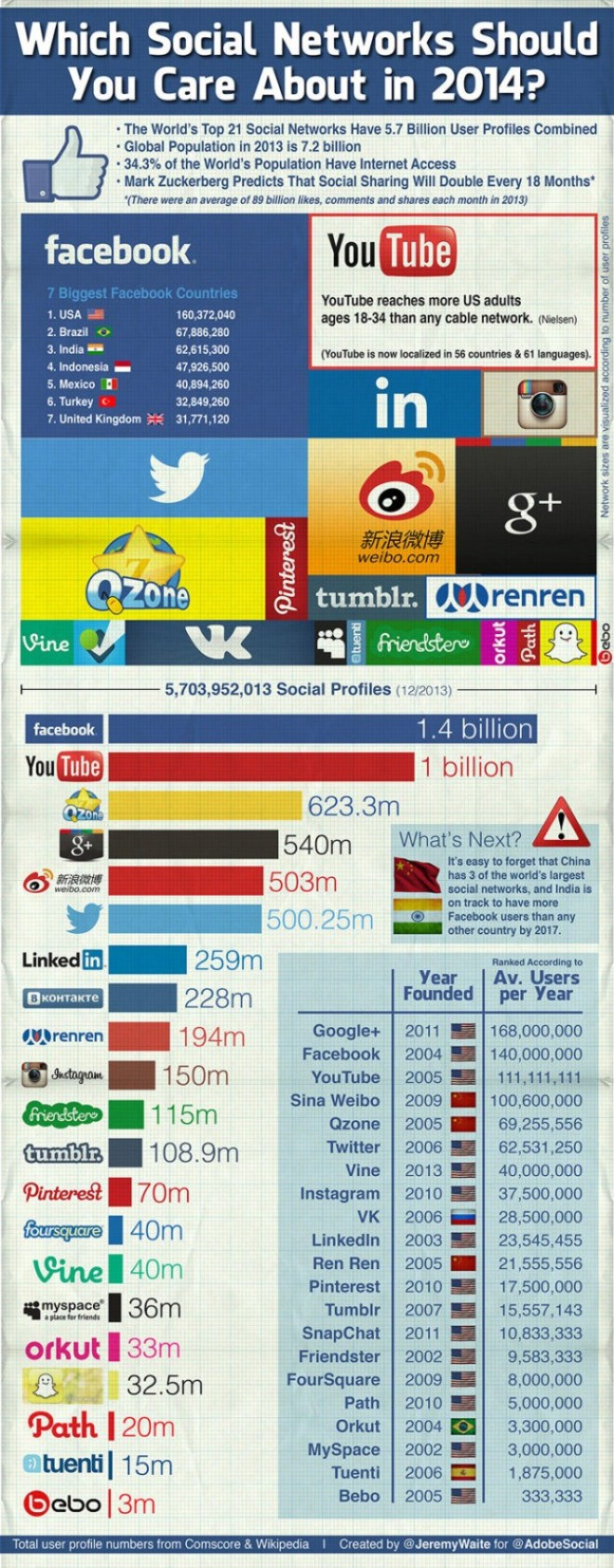 What Social Networks Should You Use in 2014? - INFOGRAPHIC