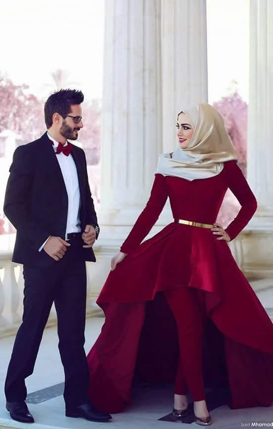 cute islamic couple photo