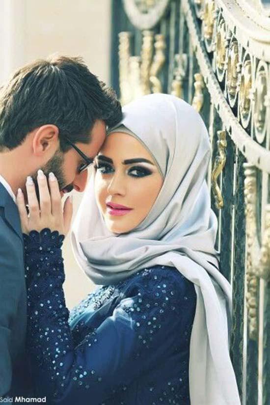 cute islamic couples image
