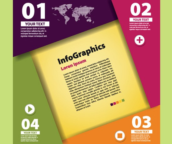 Numbered Infographic Design Vector