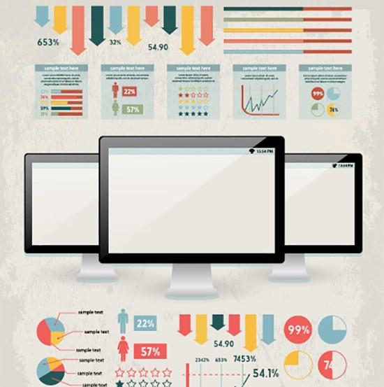 Digital Infographic set