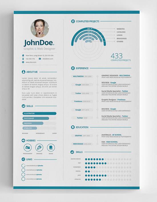 28 infographic resume templates download free premium
