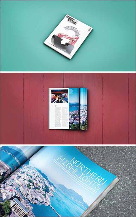3 Free Magazine Photoshop PSD Mockups