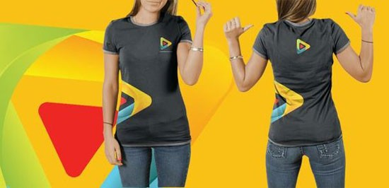 free t shirt psd template for female