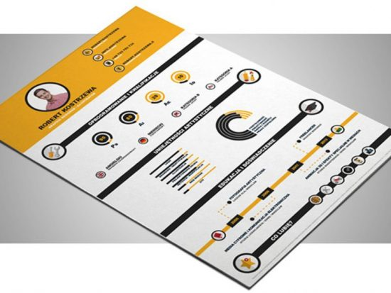 Free Infographic Illustrator Resume Template