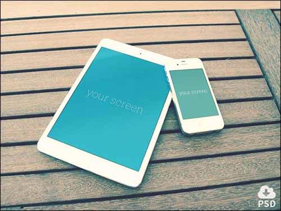 Free Iphone & Ipad PSD Mockups