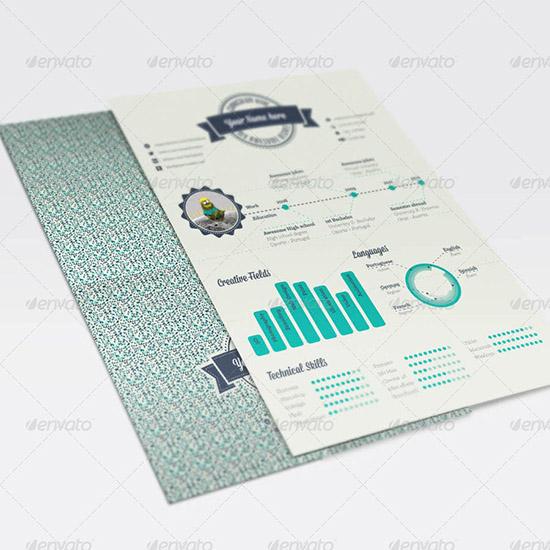 Geometric Infographic Resume