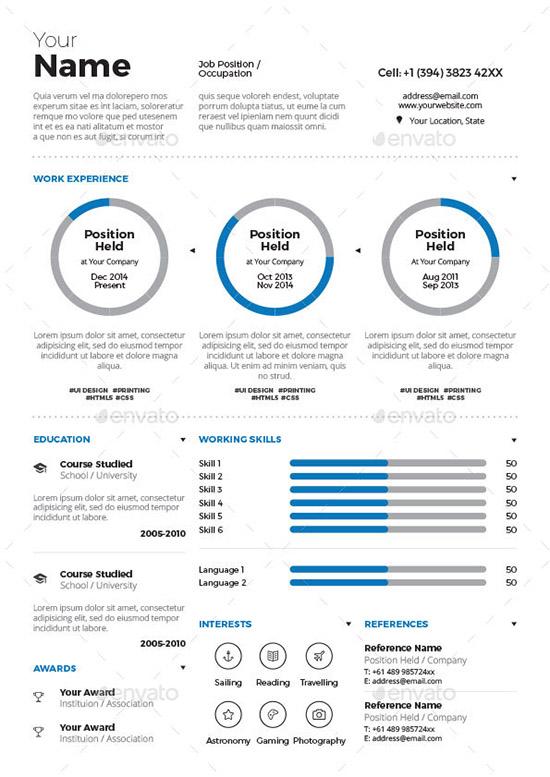 Infographic Resume Vol. 3