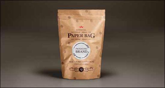 Paper Bag Free PSD Photoshop Mockup Template