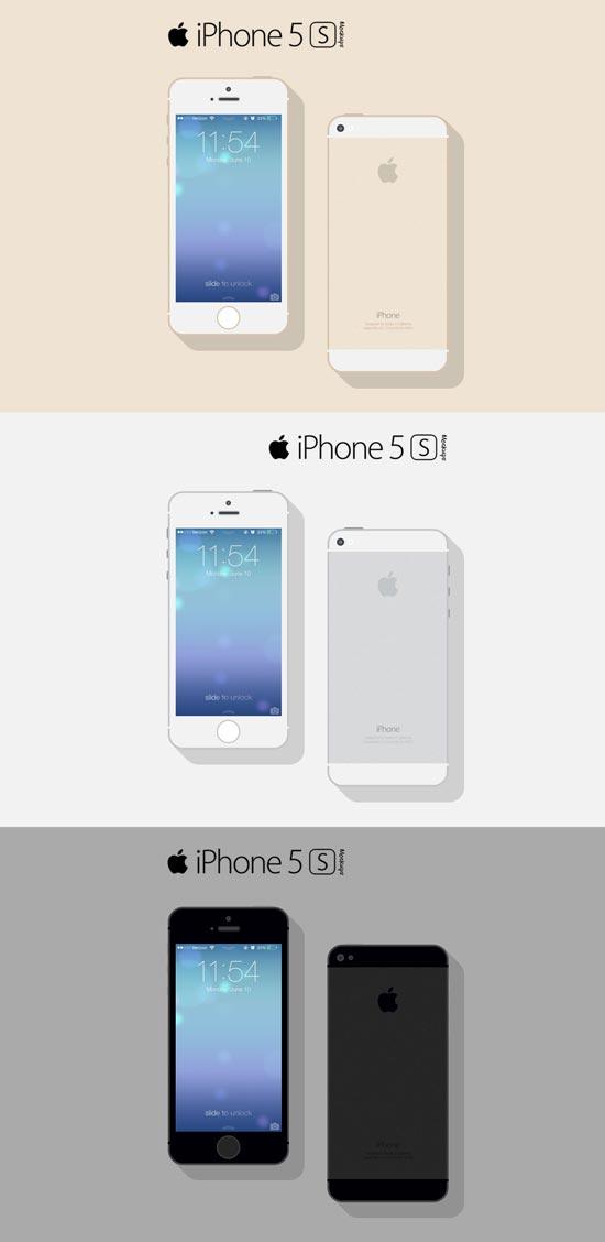 iPhone 5s Mockup PSD