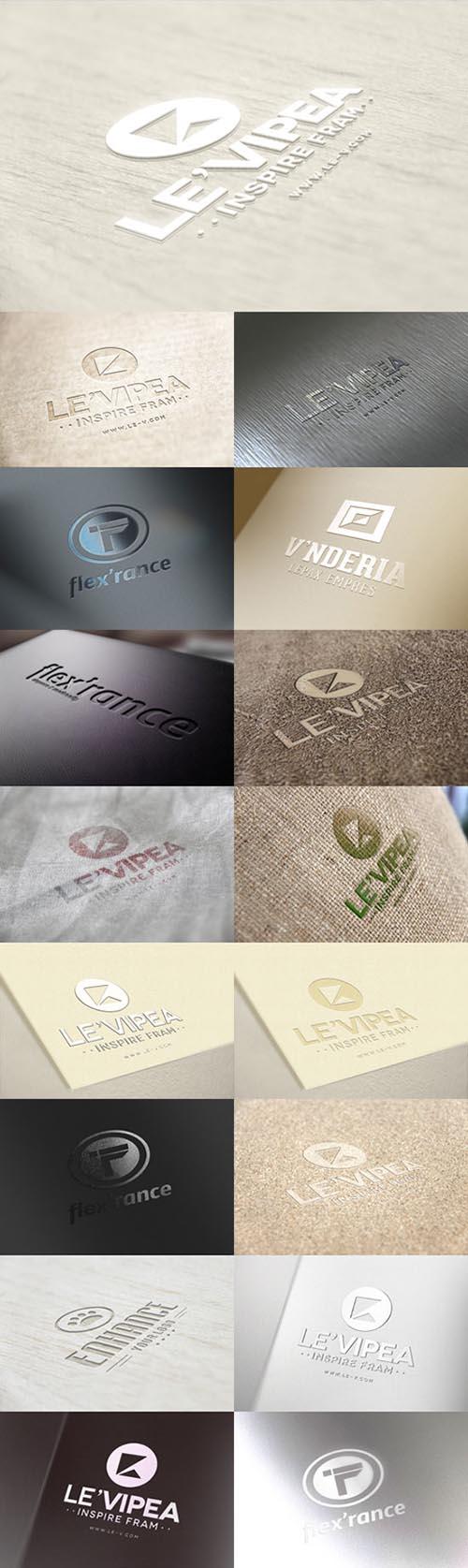 17 logo mockups