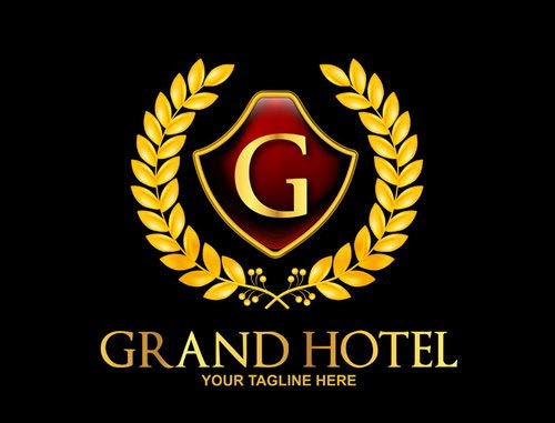 Grand Royal Hotel Logo Mockup Template PSD
