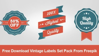 Photo of Free Download Vintage Labels Set Pack From Freepik