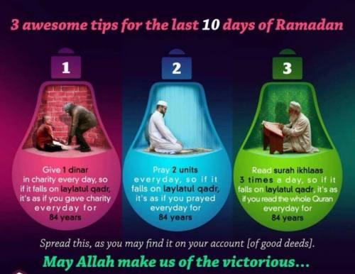 tips for last 10 days in ramadan