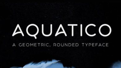 Photo of AQUATICO Free Typeface San Serif Font