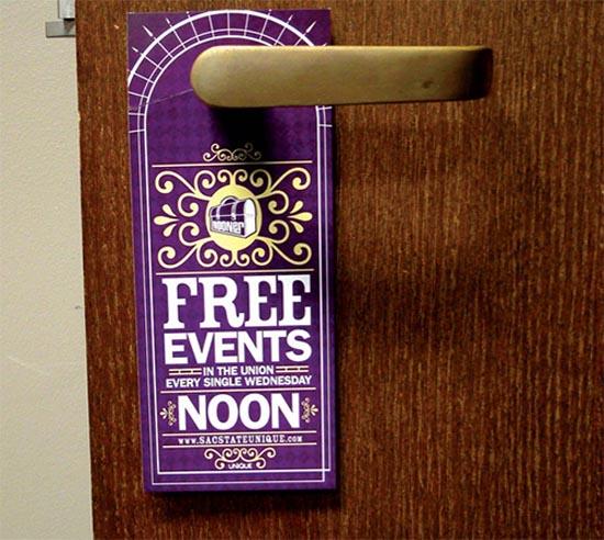 Door hanger 4 Unique Programs Ticket