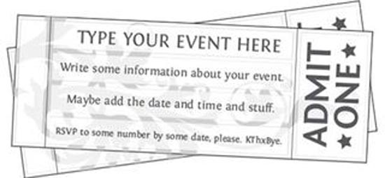 free printable concert ticket template free download