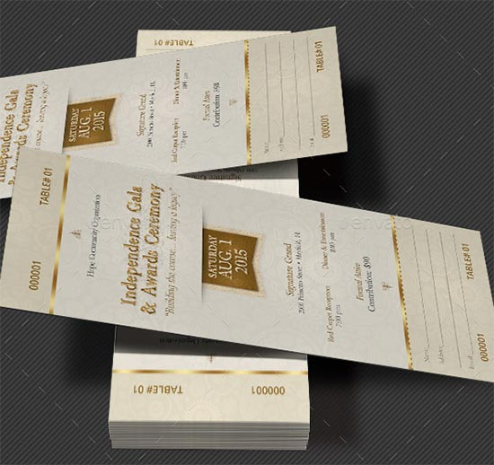 Independence-Gala-Ticket-Template