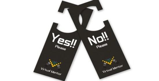 Virtual Mentor door hanger