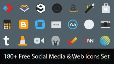 Photo of 180+ Free Social Media & Web Icons Set