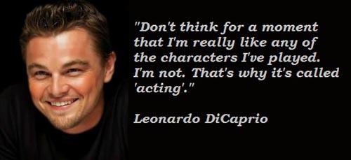 leonardo dicaprio inspirational quote 2