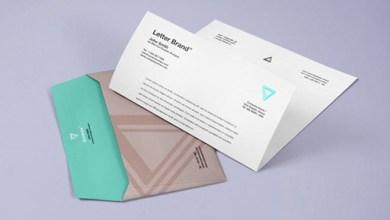 Photo of Free Envelope & Letter Psd Branding Mockup