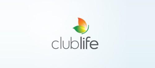 club life butterfly logo