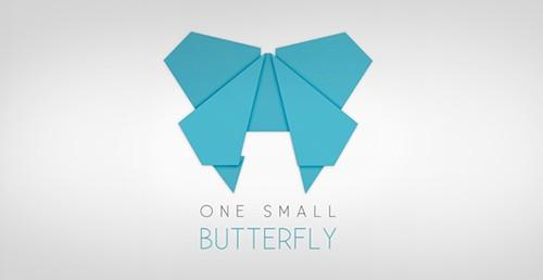 flat butterfly logos