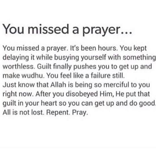 missed prayer quotes