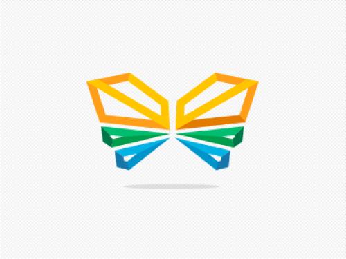 polygon butterfly logo