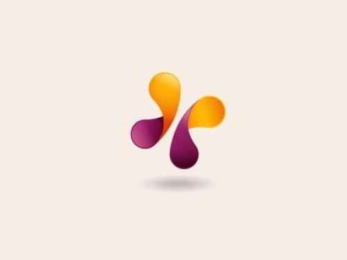 simple butterfly logo