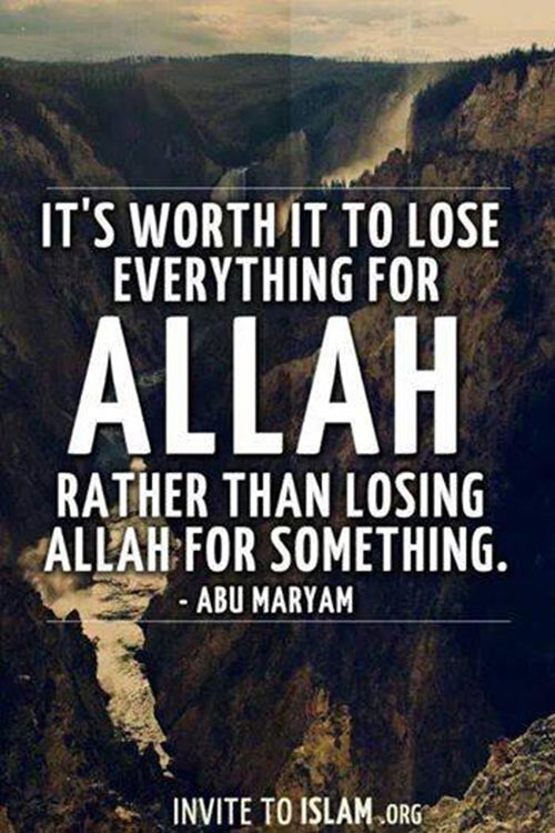allah images with quotes for losing something