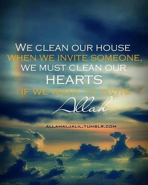 clean your heart for allah