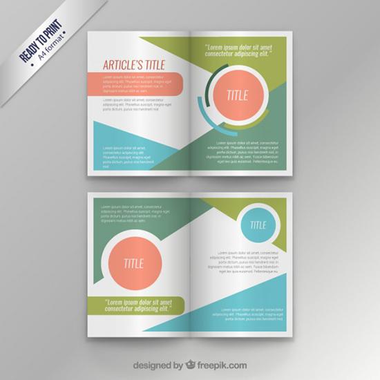 Colorful modern magazine template
