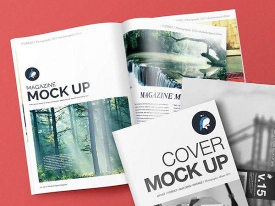 Free Mockup Magazine Cover