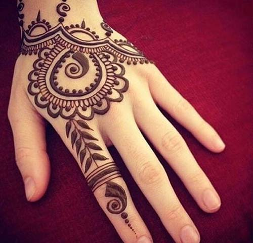 Henna Mehndi Designs For Hands simple
