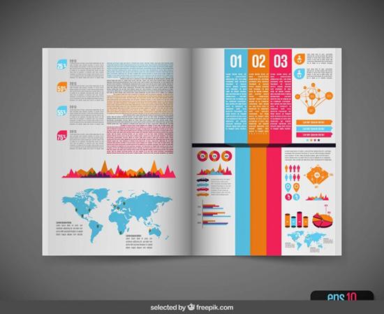 Infographic in magazine